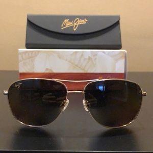 Maui Jim Cliff House Polarized Aviator Sunglasses
